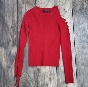 Zara red sweater S